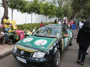 Vehicle fully decked out in ANC colors