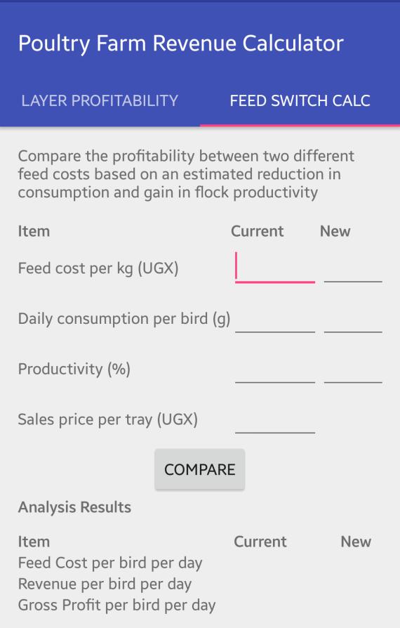 Feed Switch Comparison Computation